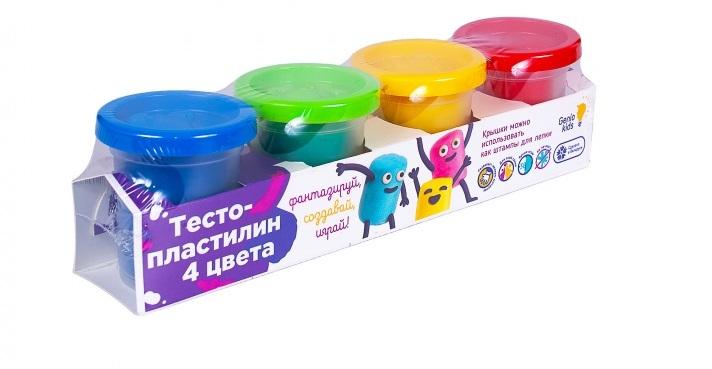 Купить Набор для детского творчества Genio Kids Тесто-пластилин, 4 цвета, Украина