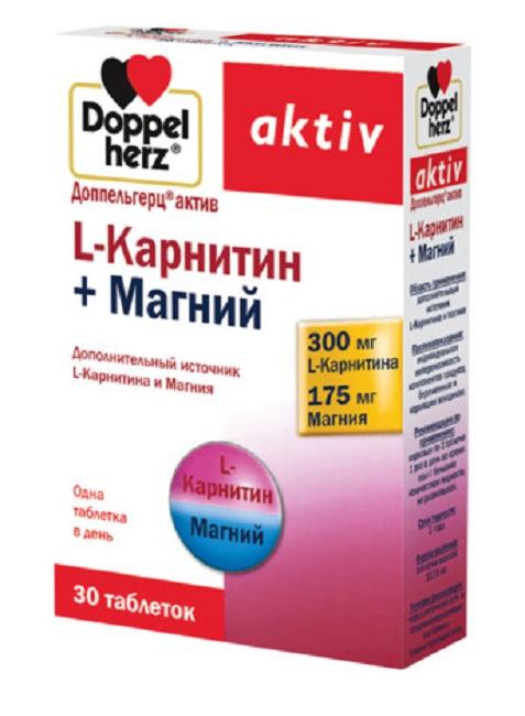 Купить Доппельгерц Актив L-Карнитин+Магний табл. 1220мг №30, Queisser Pharma