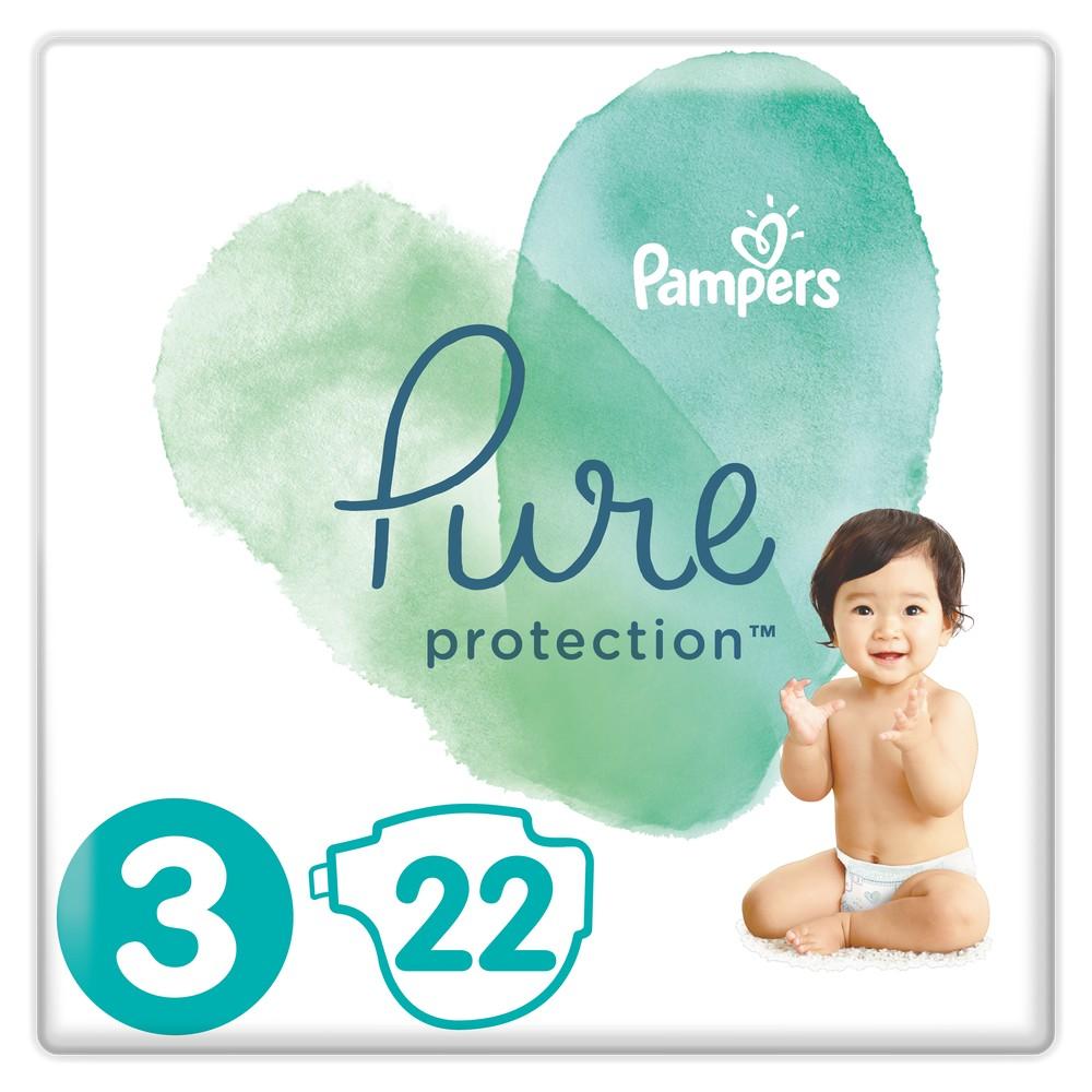 Купить Подгузники Pampers Pure Protection Midi (6-10кг), 22шт., США