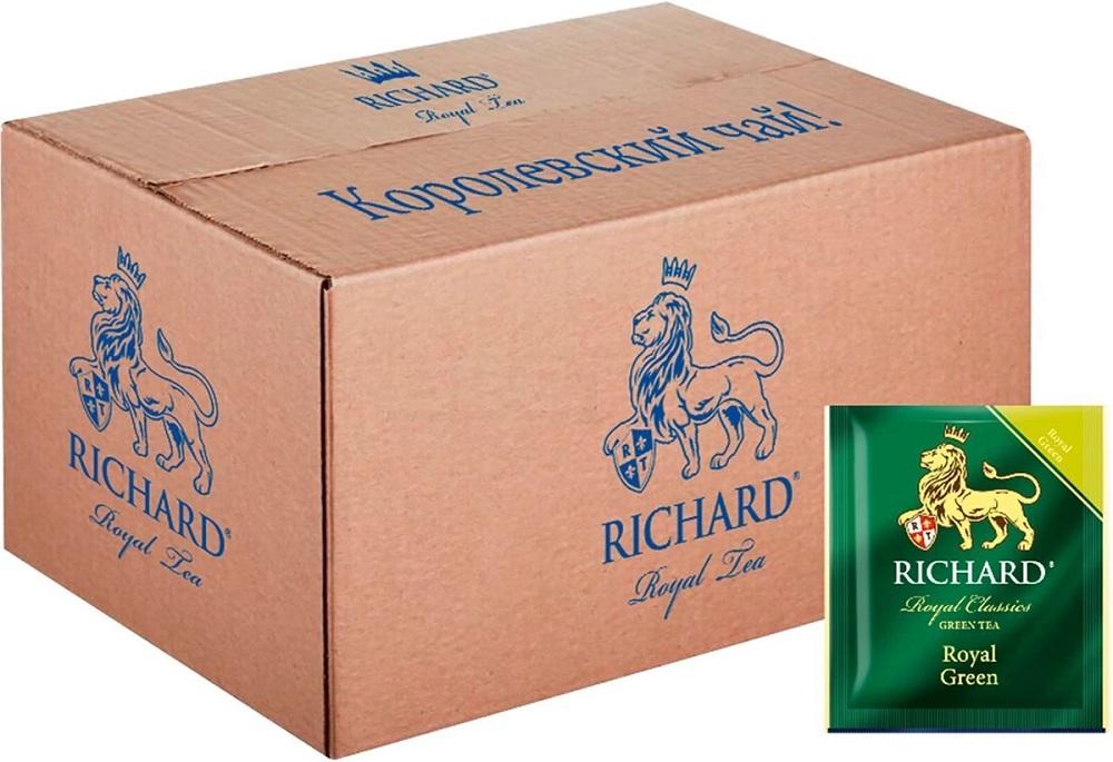 Купить Чай зеленый Richard Royal Green, 200 пакетиков, Россия