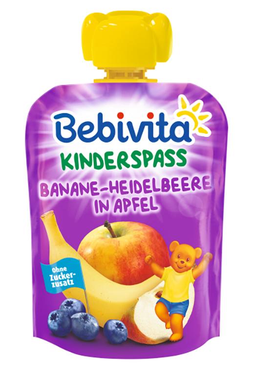 Купить Пюре Bebivita Яблоко, банан, черника, 90гр, Германия