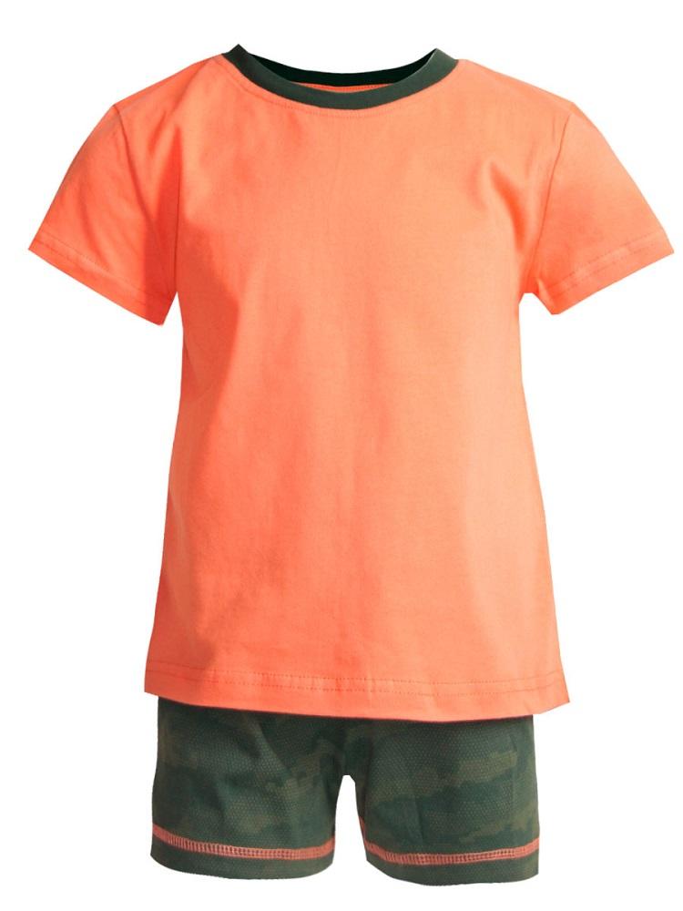 Купить Пижама НОАТЕКС+ для девочки: футболка и шорты, Журавлик, Россия, Коралловый, 128