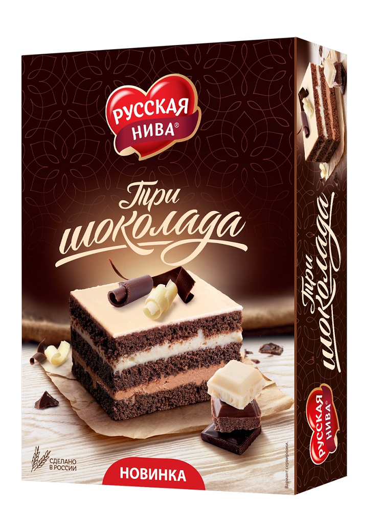 "Торт Русская Нива ""Три шоколада"", 400гр"