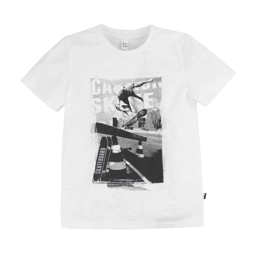 Купить Футболка Bossa Nova Лето с черно-белым принтом, для мальчика, Наша Мама, Россия, Белый, 110