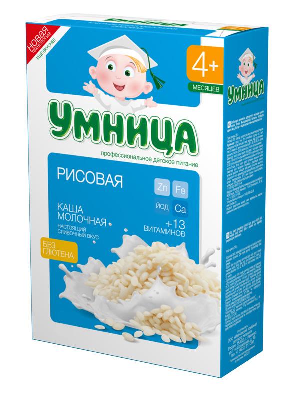 Купить Каша Умница молочная рисовая, 200гр, Россия