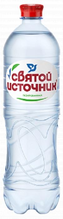 Купить Вода минеральная Святой Источник , газированная, ПЭТ, 1л, Россия