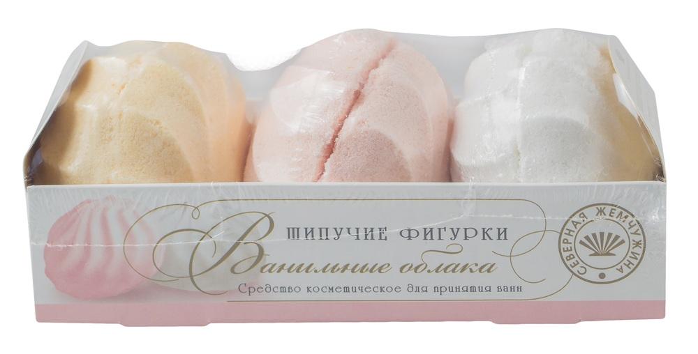 Купить Шипучее средство для ванн Северная Жемчужина Десерт , ванильные облака, 3шт., Северная жемчужина, Россия