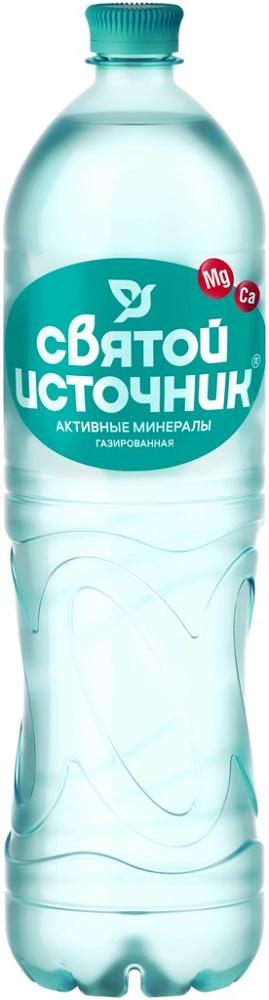 Купить Вода питьевая Святой Источник Активные минералы, газированная, 1, 5л, Россия