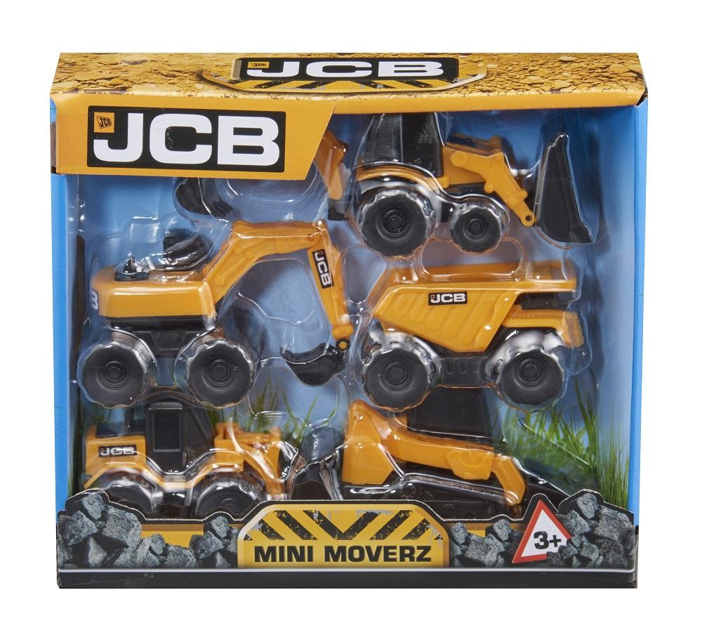 Купить Строительная техника HTI JCB Mini Moverz , 9см, 5шт, Великобритания