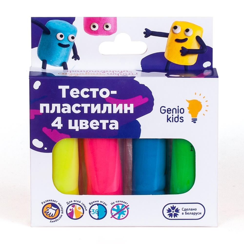 Купить Набор для лепки Genio Kids Тесто-пластилин , 4 цвета, Украина