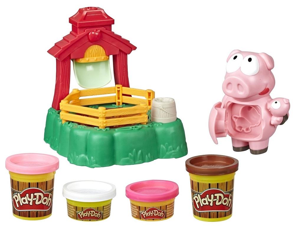 """Игровой набор Play-Doh Animal Crew """"Озорные поросята"""""""