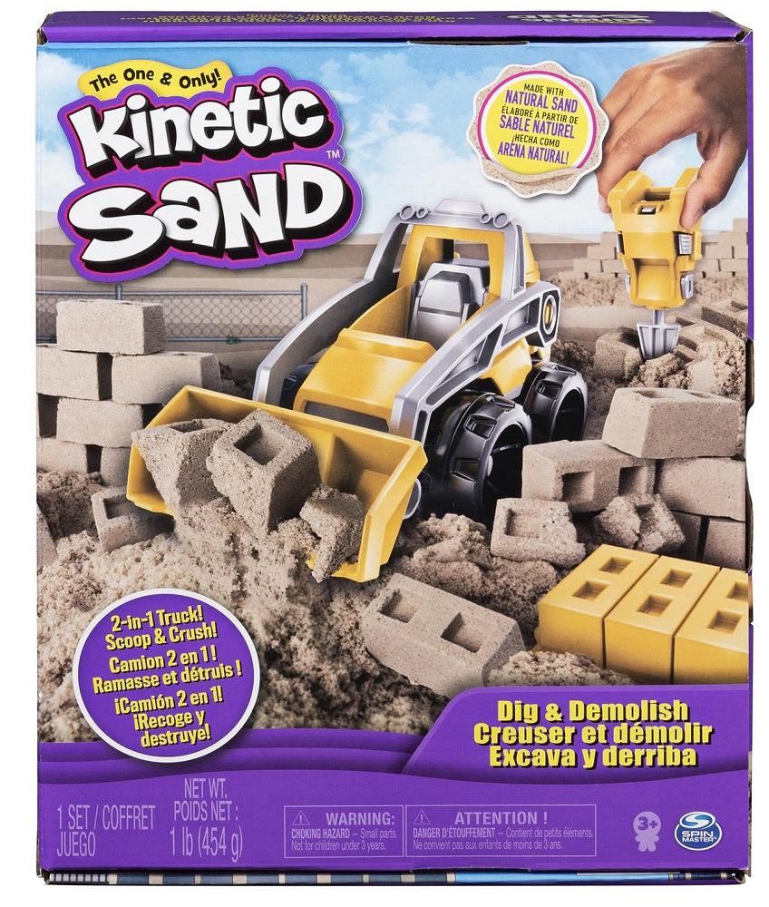 """Набор для лепки Spin Master Kinetic Sand """"Кинетический песок: Бульдозер"""""""