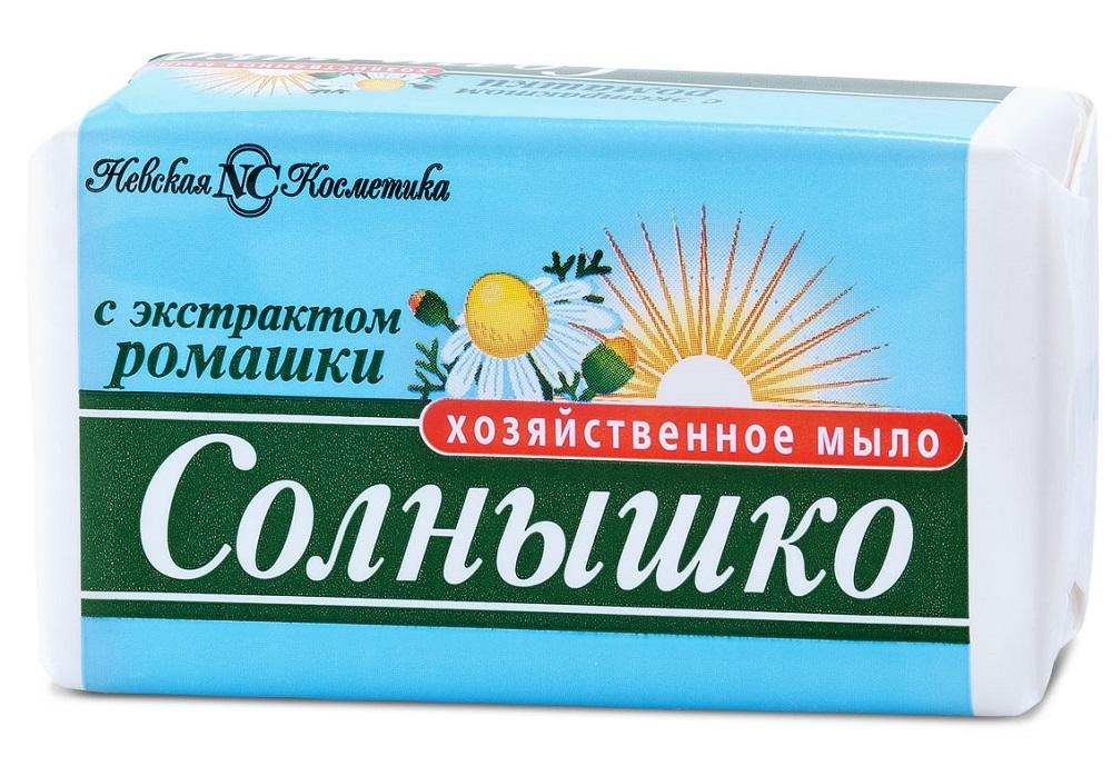 Купить Мыло хозяйственное Невская Косметика Солнышко с экстрактом ромашки, 140гр, Россия
