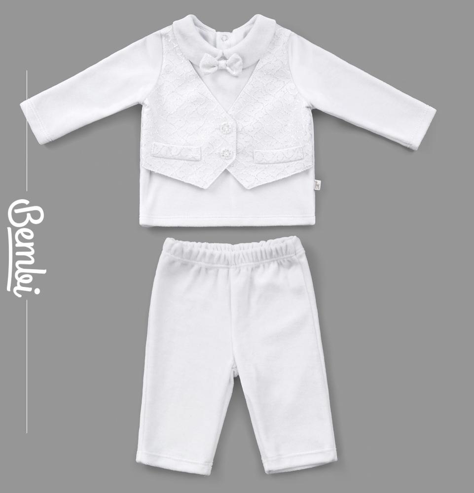 Купить Костюм Bembi Джентльмен : кофта и штанишки, Наша Мама, Россия, Белый, 62