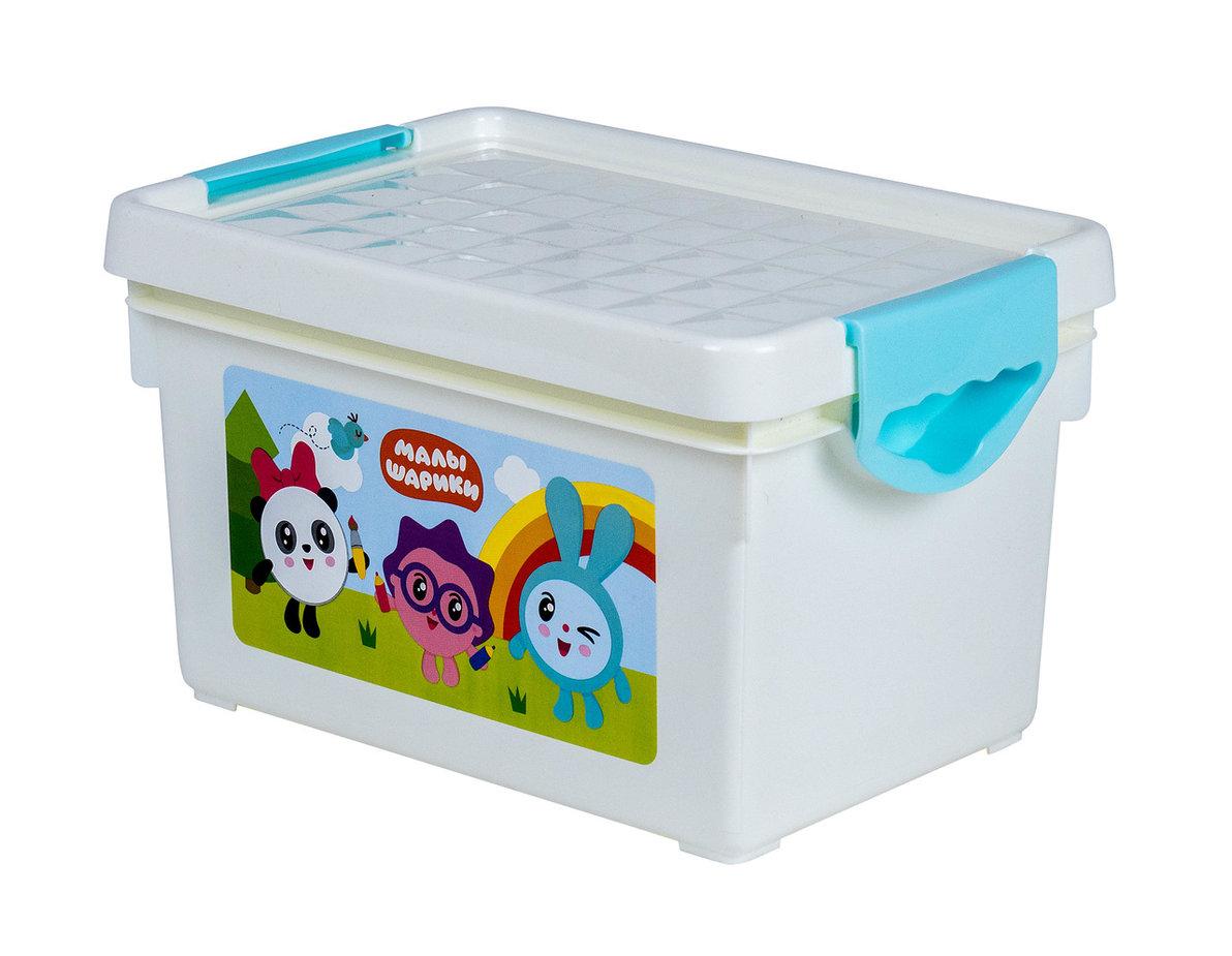 Купить Ящик для хранения игрушек Little Angel Малышарики , 5, 1л, Россия