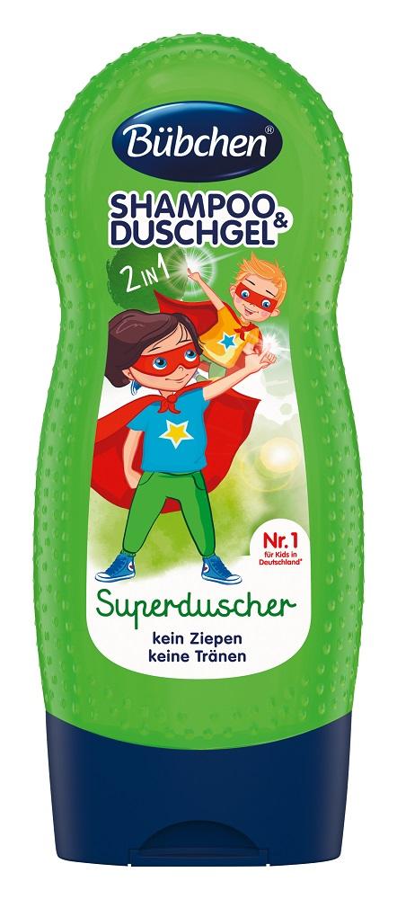 Купить Детский шампунь и гель для душа Bubchen «Супергерой» 2в1, 230мл, Германия
