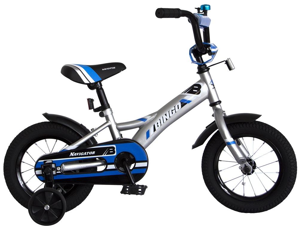"""Детский велосипед Navigator Bingo, колеса 12"""", серый"""