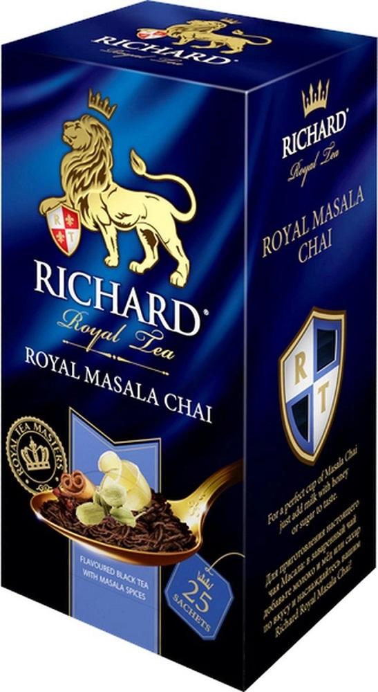 Купить Чай черный Richard Royal Masala Chai со специями, 90гр, Россия