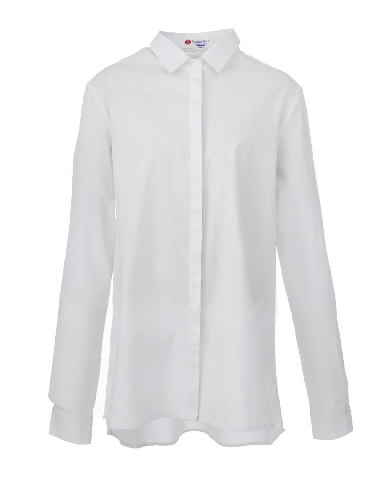 Купить Блузка Button Blue с планкой, Durex, Великобритания, Белый, 122
