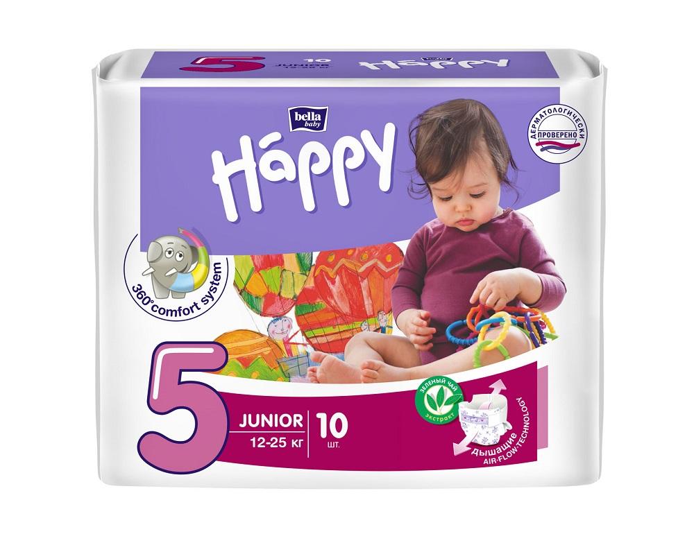 Подгузники Bella Baby Happy Junior (12-25кг), 10шт.