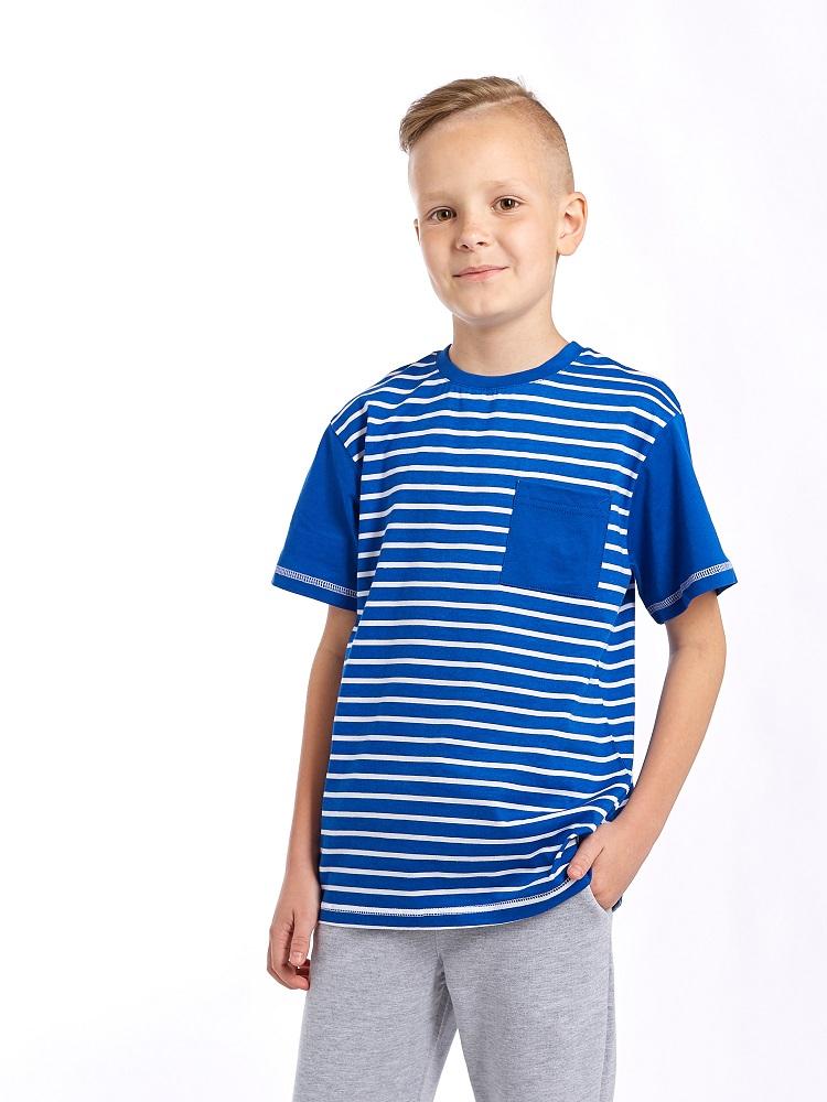 Купить Футболка UMKA 106-029-191 для мальчика, синяя, CS Medica, Россия, Синий, 128