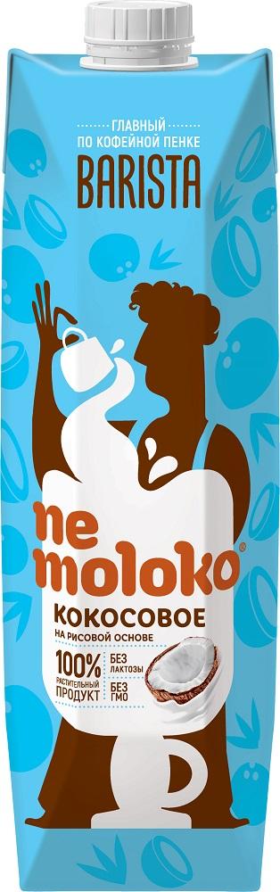 Напиток кокосовый Nemoloko Barista с витаминами и минералами, 1л