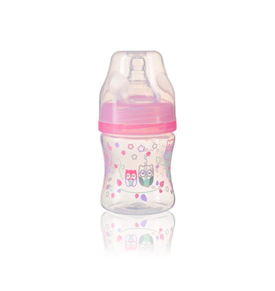 Бутылочка BabyOno антиколиковая, с широким горлышком, 120мл фото