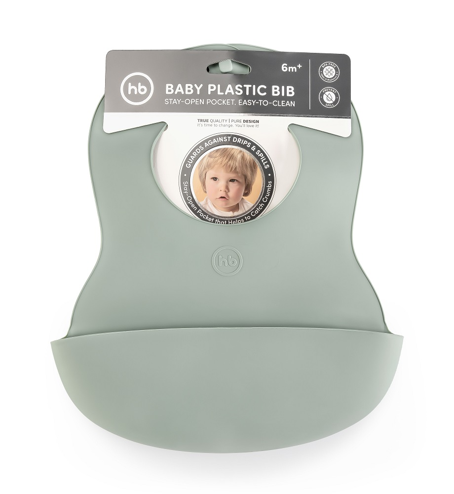 Купить Нагрудный фартук Happy Baby Dark Green, пластиковый, Россия