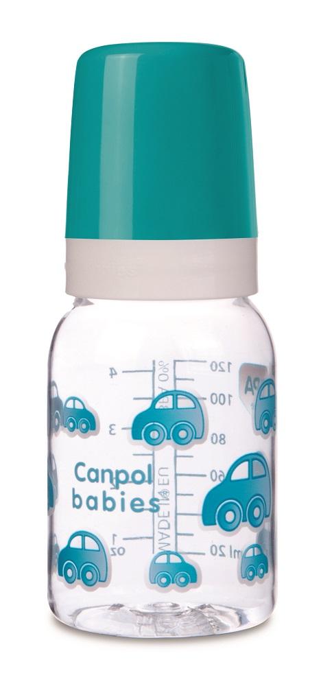 Бутылочка Canpol babies 3+ с силиконовой соской, 120мл, бирюзовая фото