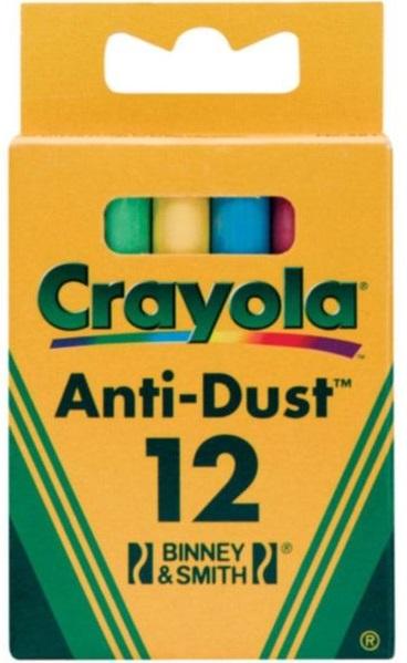 Мелки с пониженным выделением пыли Crayola, 12шт.