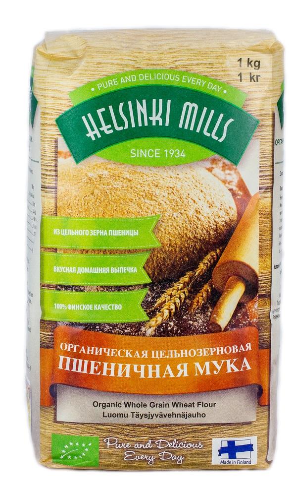 Мука пшеничная Helsinki Mills органическая цельнозерновая, 1кг