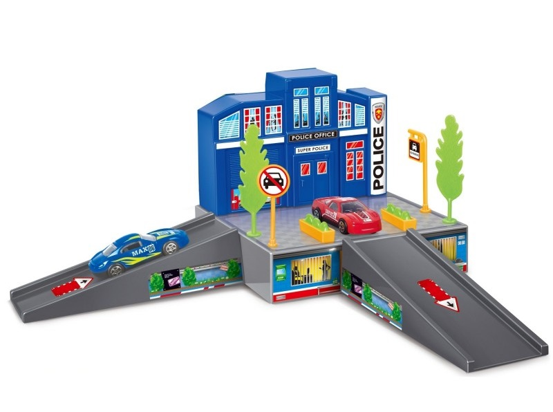 Купить Игровой набор Dave Toy Полицейский участок с 1 машинкой, Китай