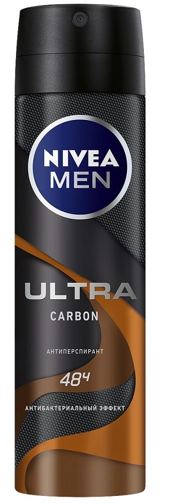 Купить Антиперспирант-спрей Nivea Men Ultra Carbon, 150мл, Германия