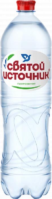 """Вода минеральная """"Святой Источник"""", газированная, ПЭТ, 1,5л"""