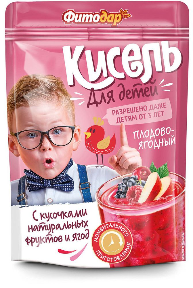 """Кисель """"Плодово-ягодный"""" на натуральной основе, витаминизированный, 150гр"""
