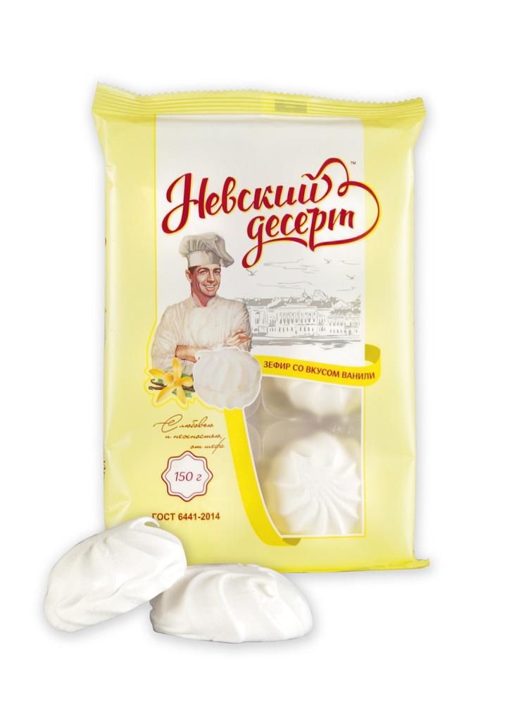 Купить Зефир Невский десерт Со вкусом ванили неглазированный, 150гр, Россия