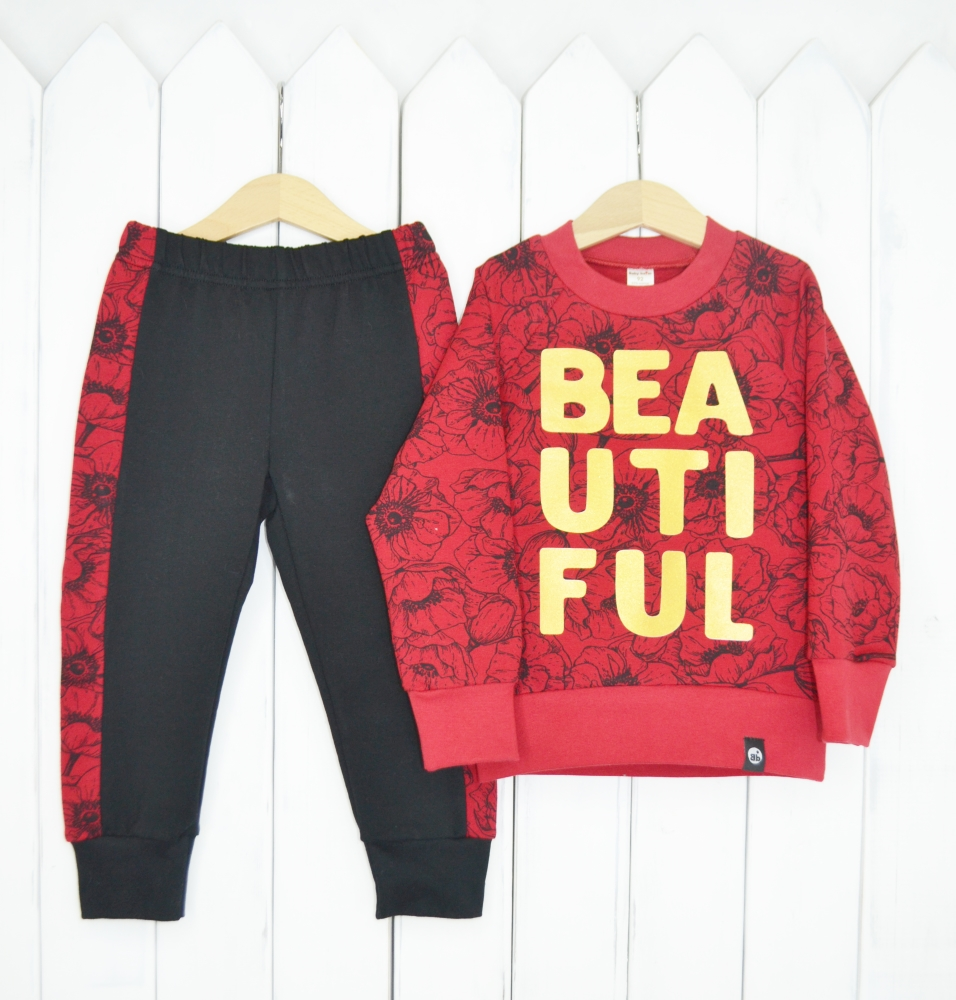 "Комплект детский Baby Boom ""Маки"": брюки и джемпер фото"