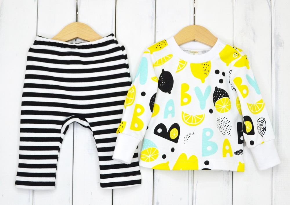 Купить Комплект Baby Boom Лимон : лонгслив и брюки, Наша Мама, Россия, Белый, 62