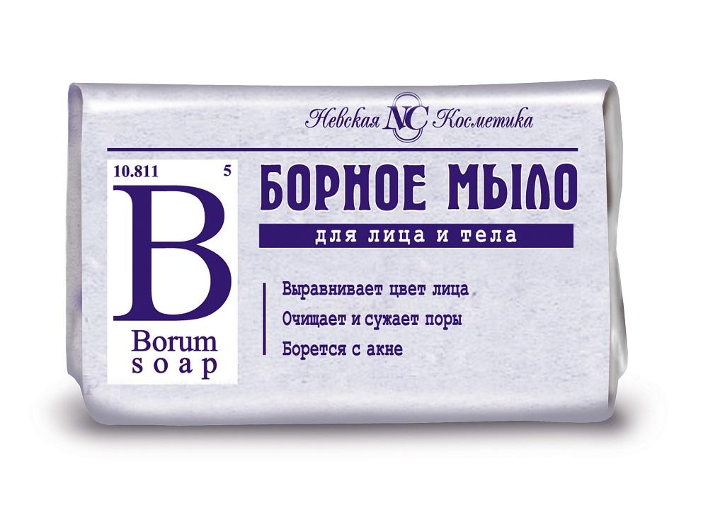 Купить Мыло Невская Косметика Борное для лица и тела, 90гр, Россия