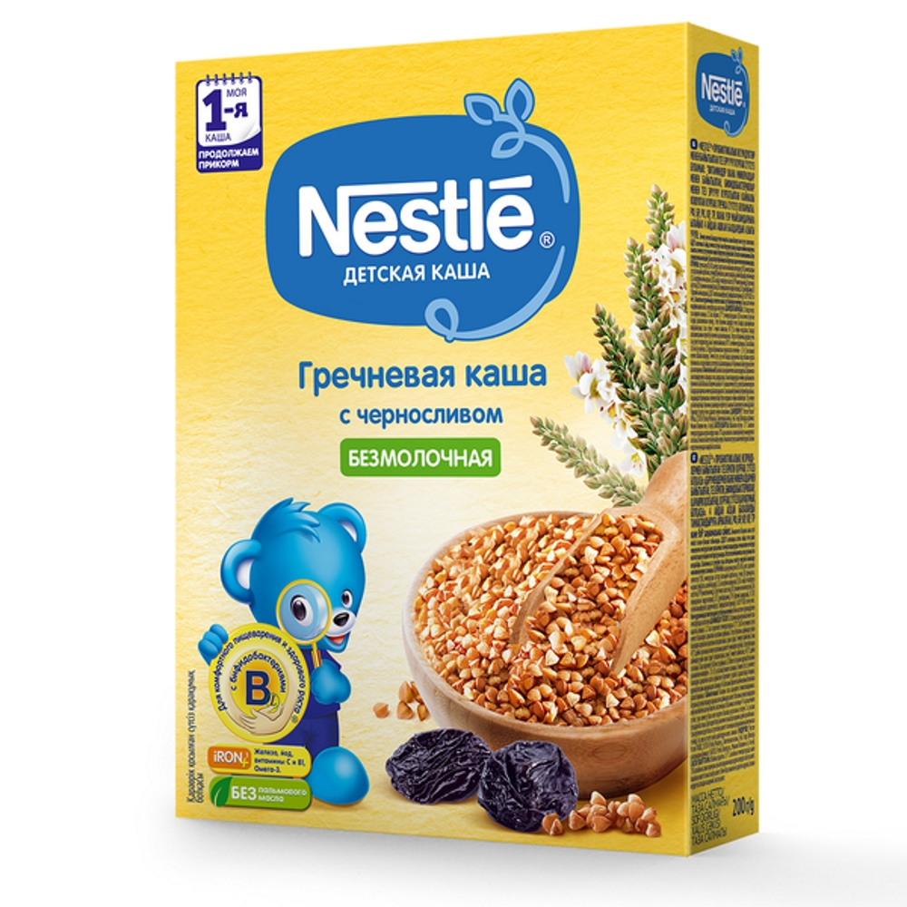Nestle® Безмолочная гречневая каша с черносливом, 200гр