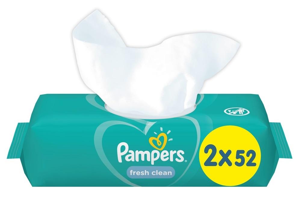 Купить Детские влажные салфетки Pampers Fresh Clean, 104шт., США