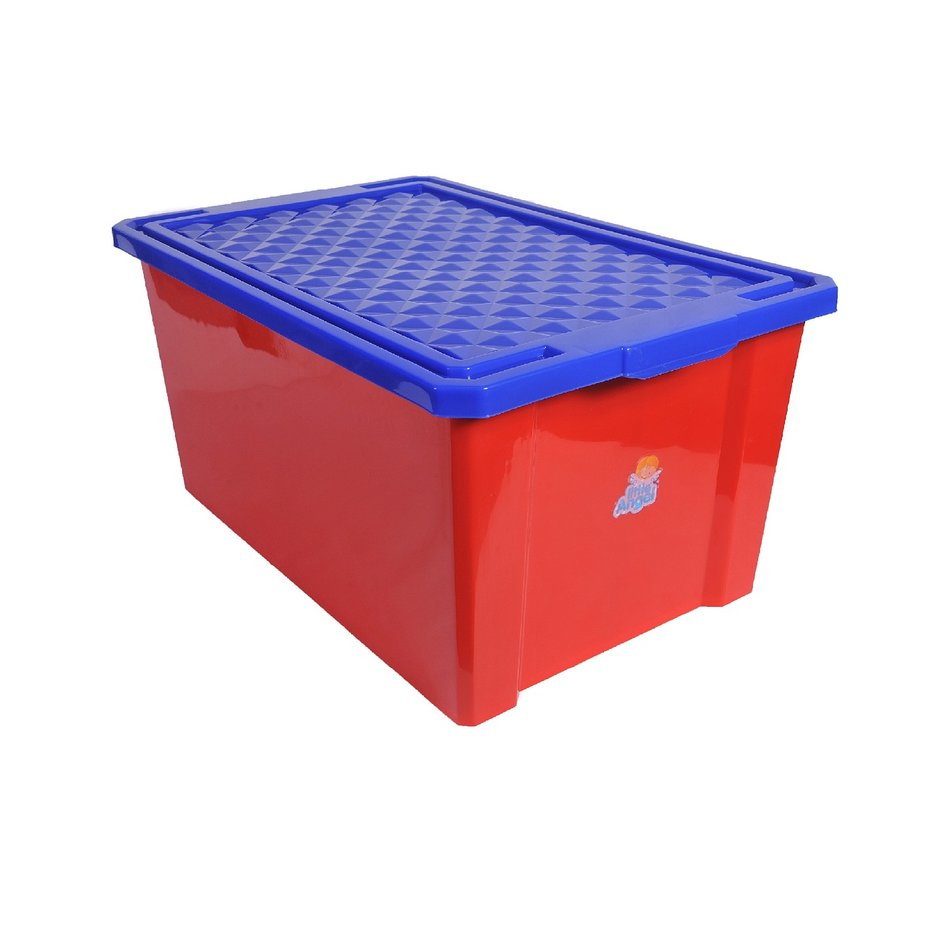 Купить Ящик для хранения игрушек Little Angel красный, 57л, Россия
