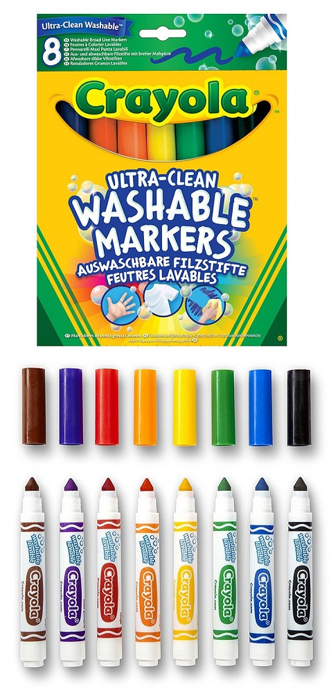 """Смываемые фломастеры Crayola """"Супер чисто"""" с толстым наконечником, 8шт. фото"""