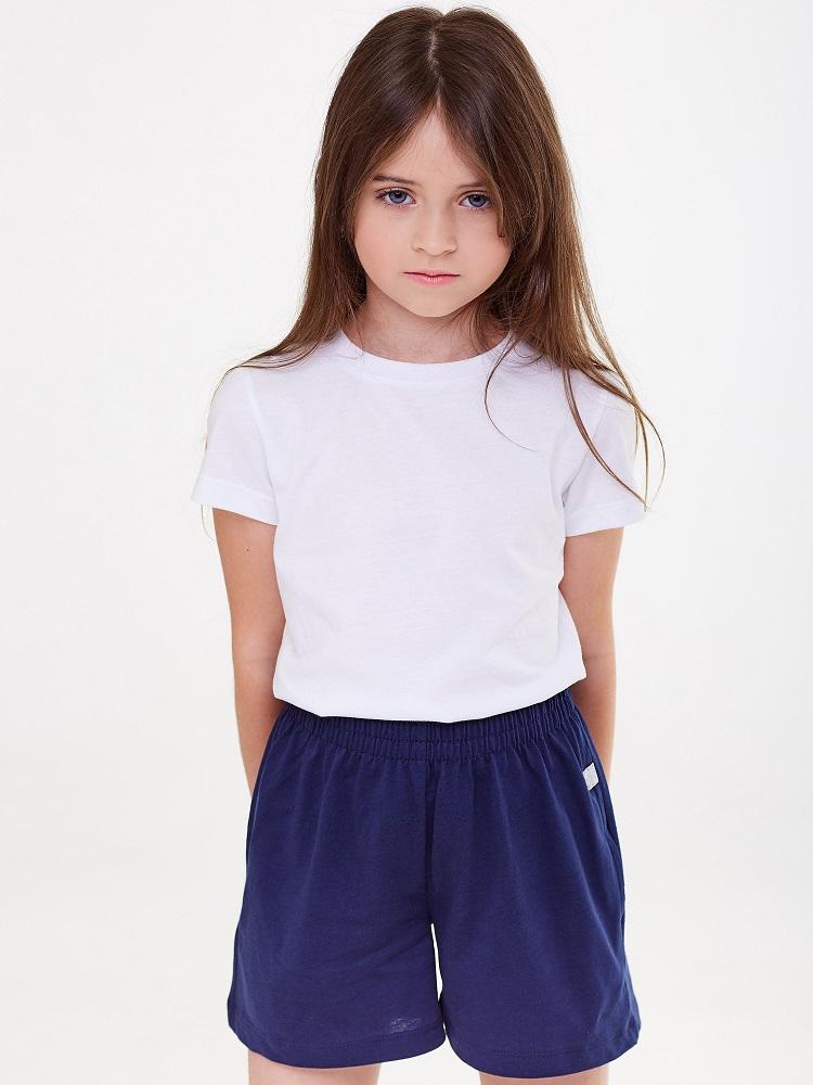 Купить Шорты UMKA 207-008-191 для девочки, синие, Polini Kids, Россия, Синий, 116