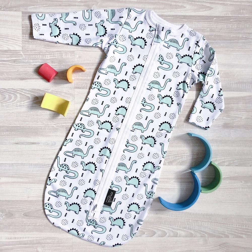 """Спальный мешок Mjolk """"Динозавры"""""""