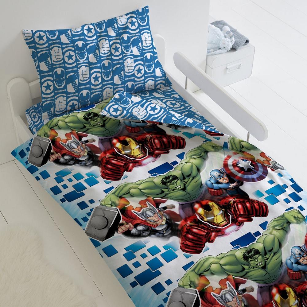 Купить Комплект постельного белья Мстители , Герои Neon, с наволочкой 70х70см, 1, 5-спальный, ОТК, Россия