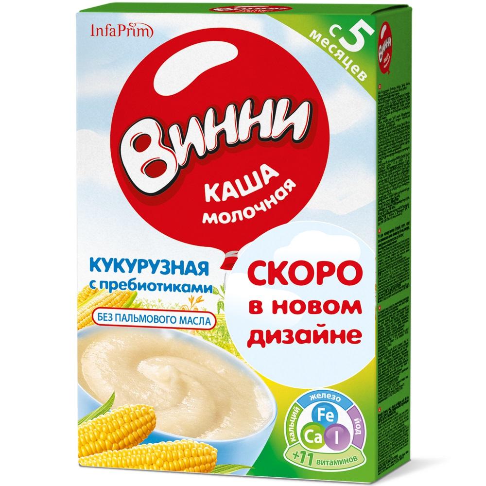 Купить Каша молочная Винни кукурузная с пребиотиками, 200гр, Россия