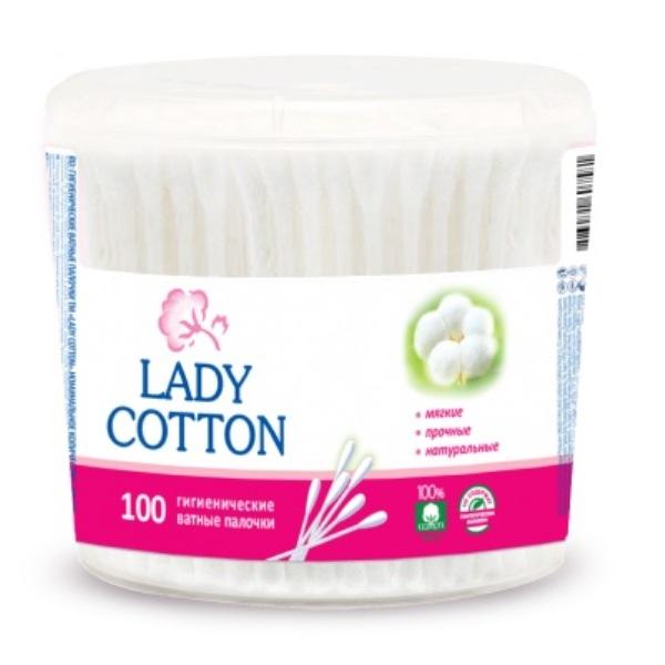 Ватные палочки в банке Lady Cotton, 100шт. фото