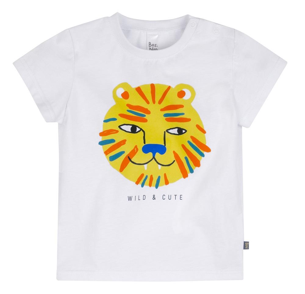 Купить Футболка Bossa Nova Лето для мальчика, со львом, белая, Элком, Россия, Белый, 86