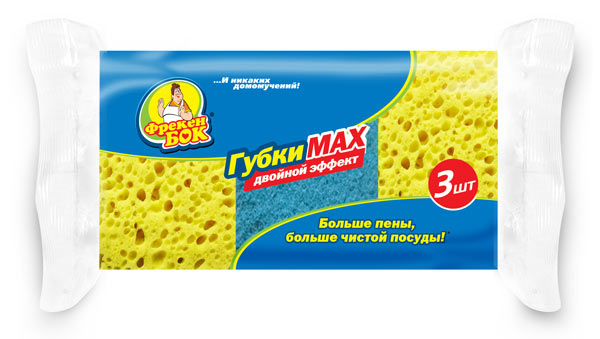"Кухонные губки ""Фрекен Бок"" MAX, 3шт. фото"